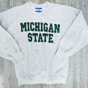 Vintage Kids' Michigan State Crewneck Sweatshirt